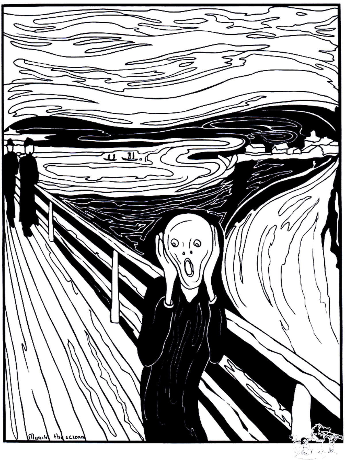 The Scream was painted by the expressionist artist Edvard Munch in 1893