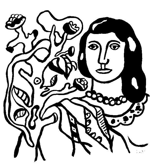 Fernand leger woman with flower - Image with : Fernand Leger, Woman