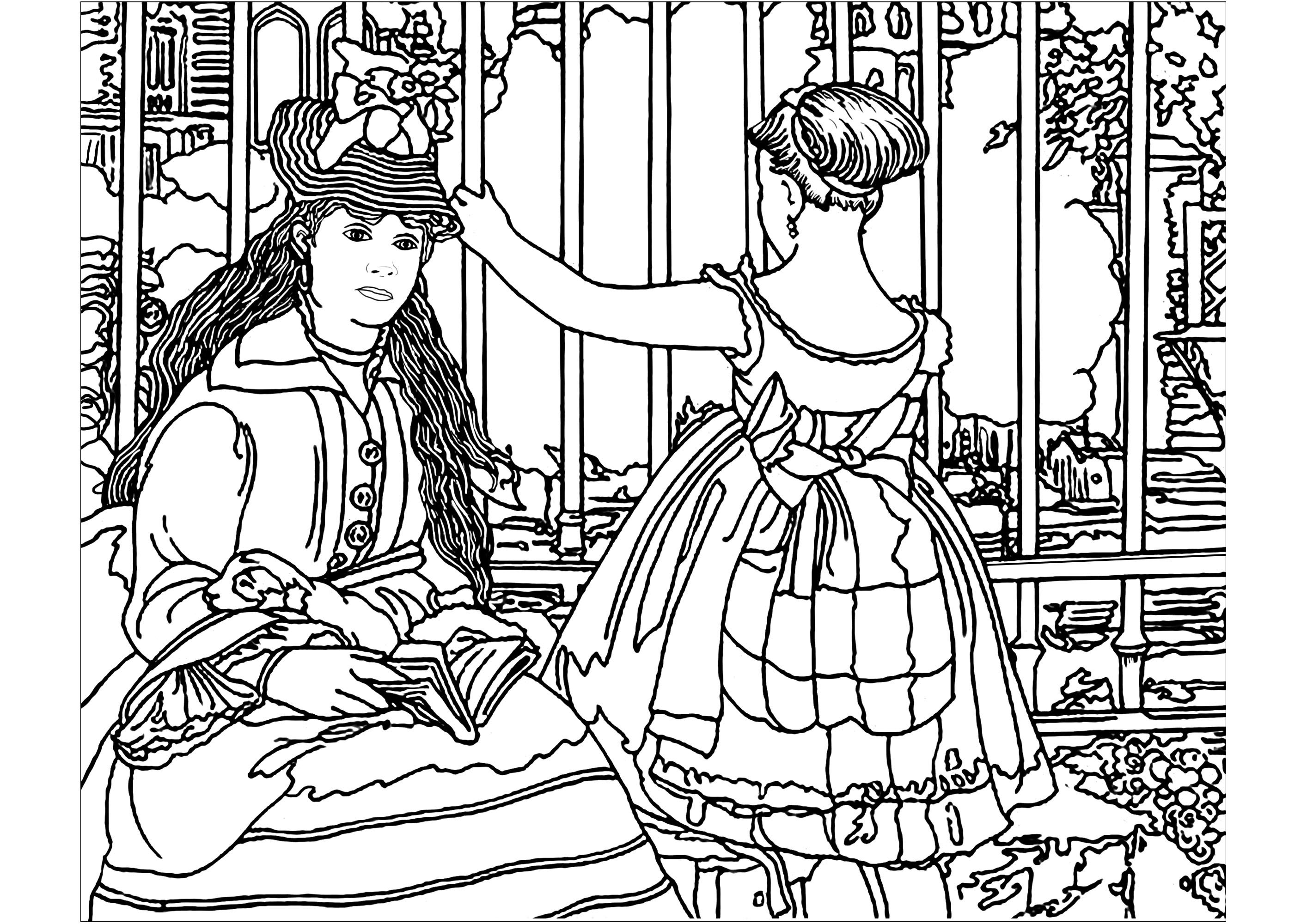 Impressionism coloring pages for adults for Impressionist coloring pages