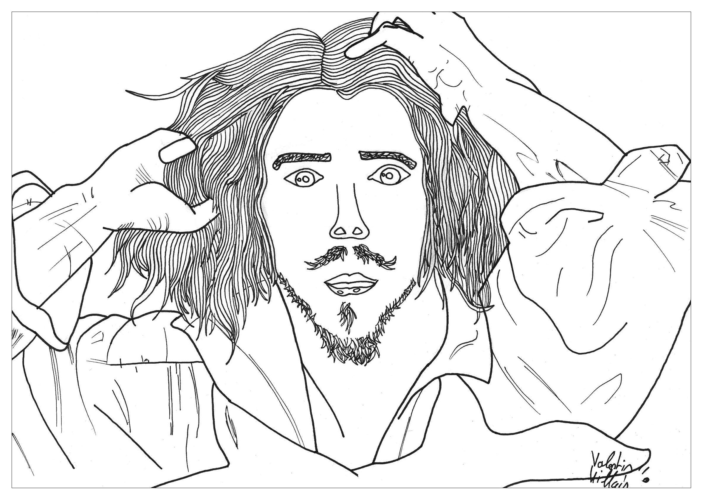 self portrait by valentin jim coloring pages for adults