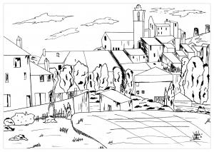 coloring Cezanne for valentin