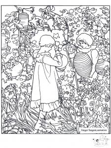 Coloring adult john singer sargent carnation lily lily rose