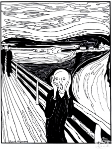 Coloring adult munch the scream