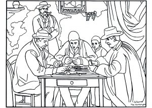 coloring-adult-paul-cezanne-card-players