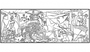 Coloring adult picasso guernica