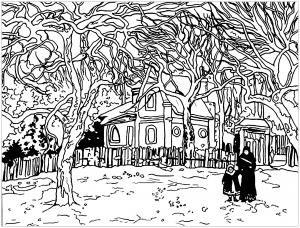 Camille Pissarro : Chestnut at Louveciennes