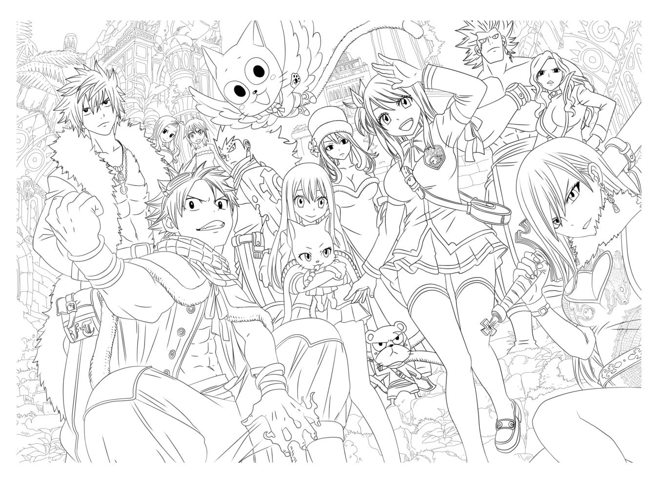 Manga characters, by Tobeyd