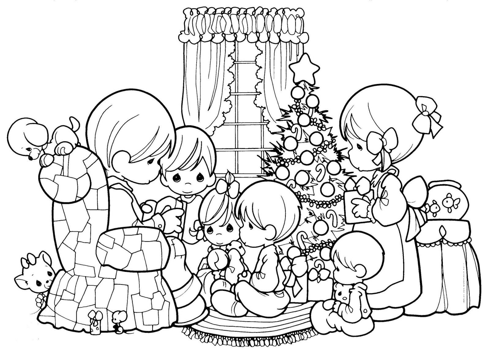 Precious moments - Return to childhood Adult Coloring Pages