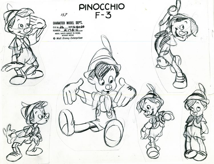Disney sketch pinocchio - Image with : Disney