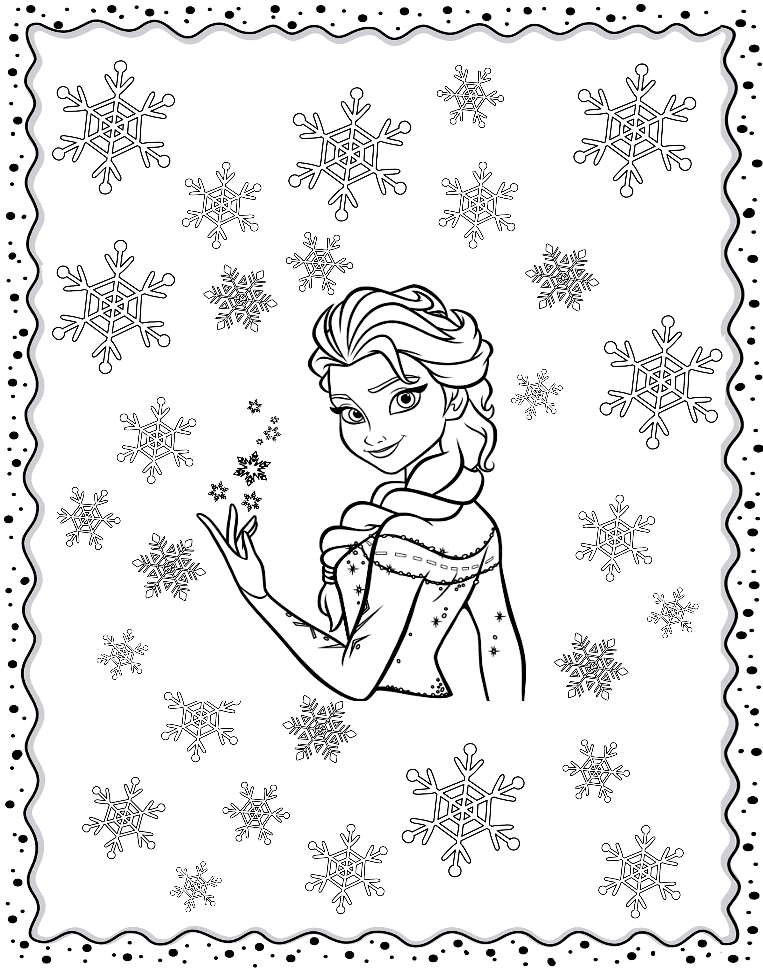 Coloring adult frozen