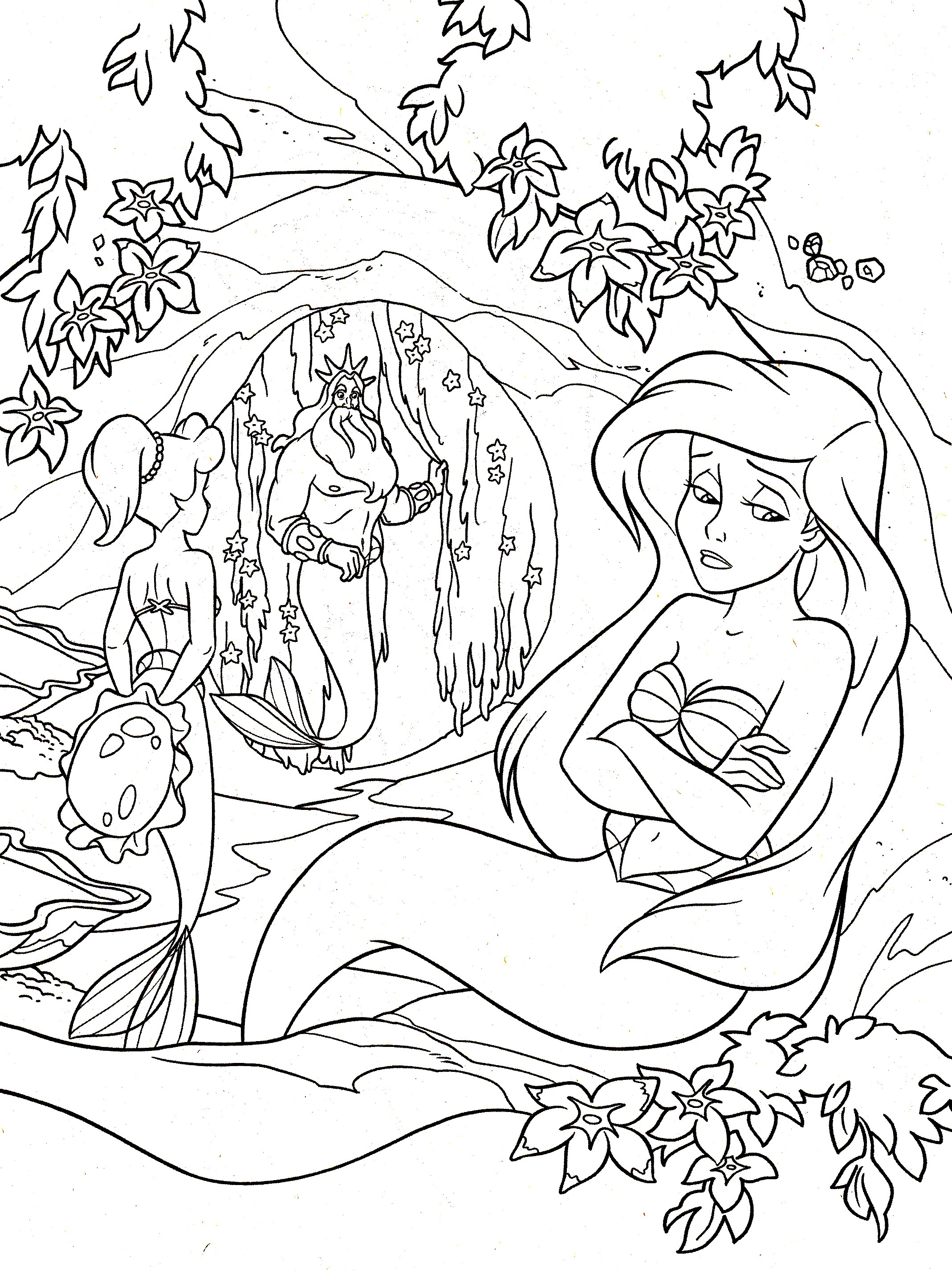 Ariel the little mermaid - Return to childhood Adult Coloring Pages