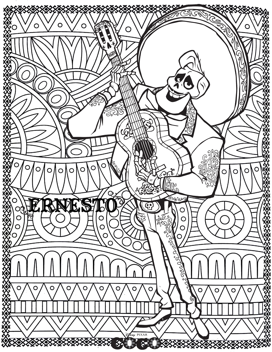 Coco Ernesto Return to childhood Adult Coloring Pages