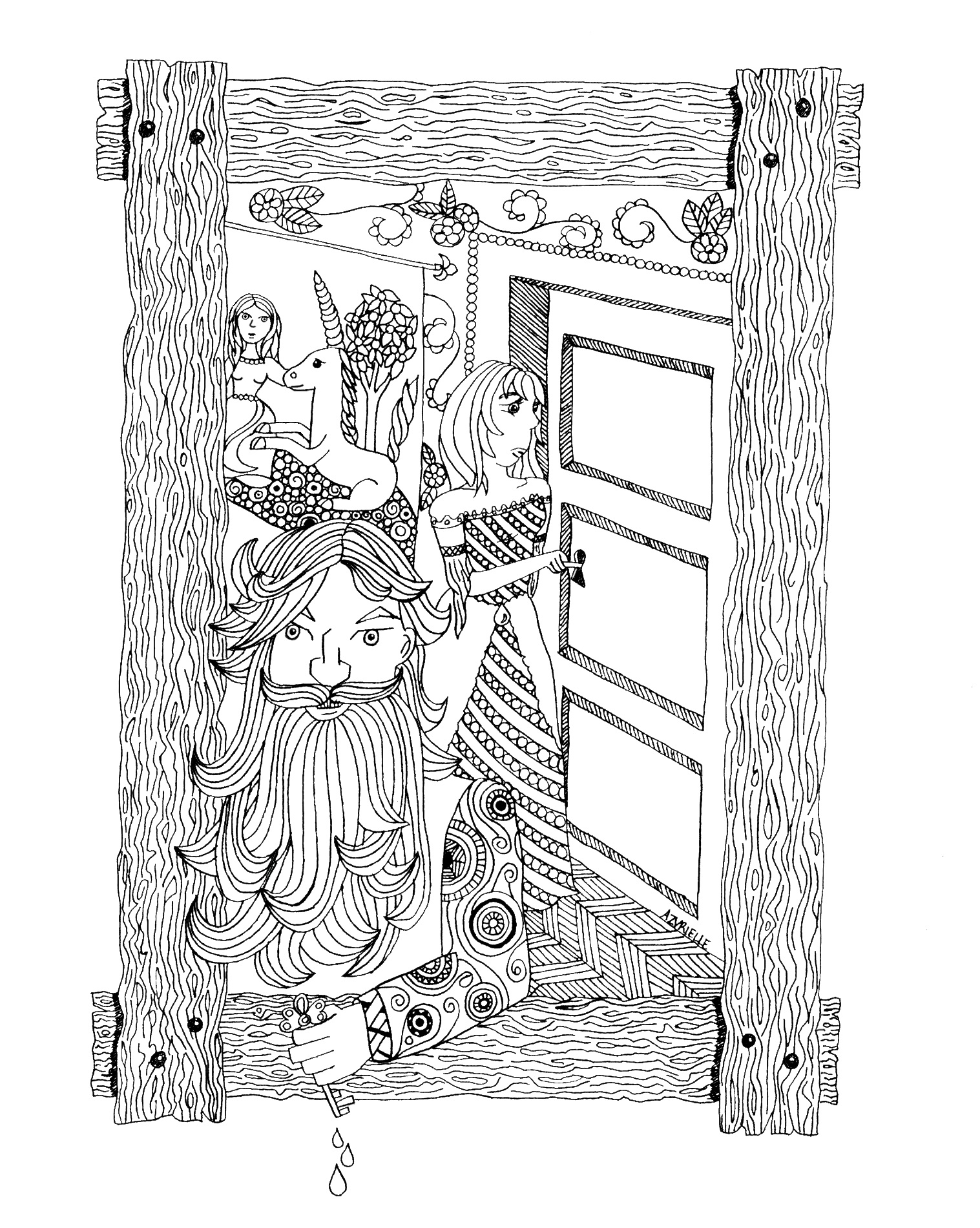 These Charles Perrault tale characters are waiting for colors