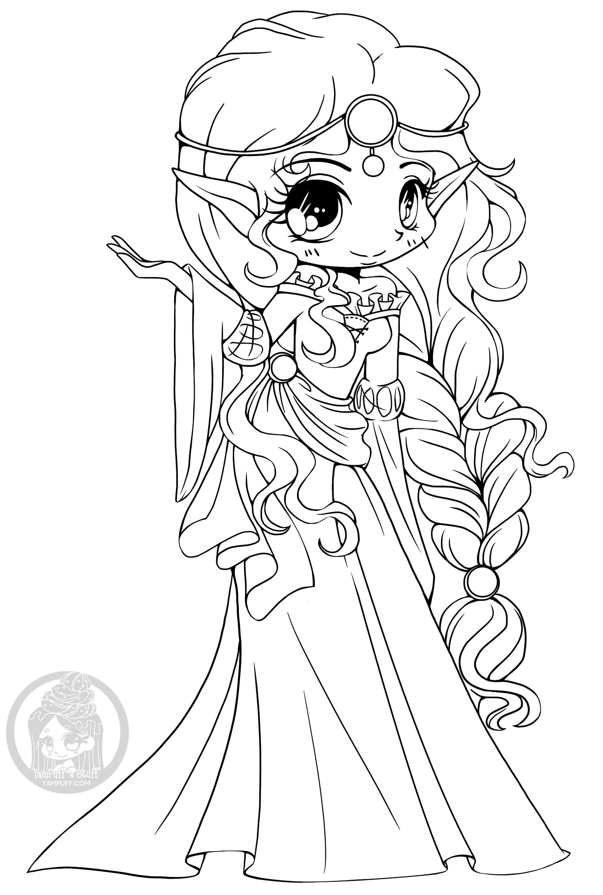 This elf princess will shows you her kingdom if you color her !