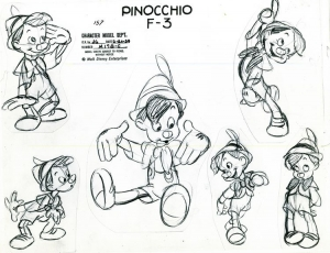 coloring-adult-disney-sketch-pinocchio free to print