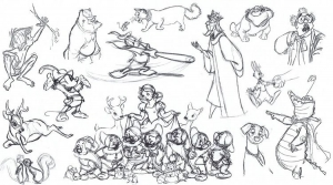 coloring-adult-disney-sketches-various-characters-2