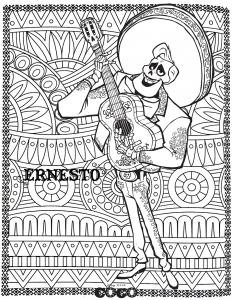 coloring disney coco ernesto