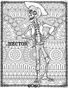 coloring disney coco hector