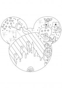 Colriage Princesse Disney Coloring Pages For Adults