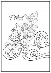 coloring little fairy konstantinos liaramantzas