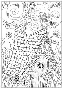 coloring strawberry fairy konstantinos liaramantzas