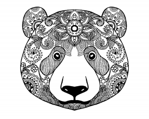 coloring pages bear Bears   Coloring Pages for Adults coloring pages bear