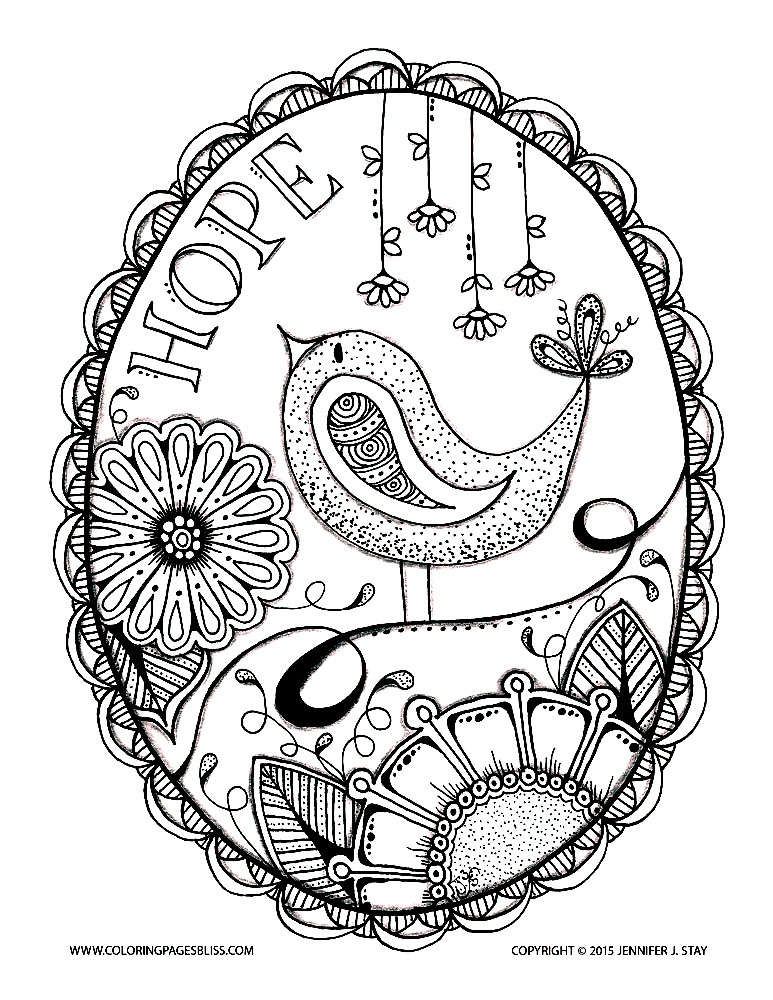 Bird Hope Birds Adult Coloring Pages