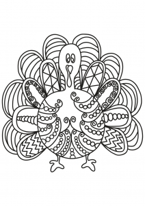 Coloring free book turkey