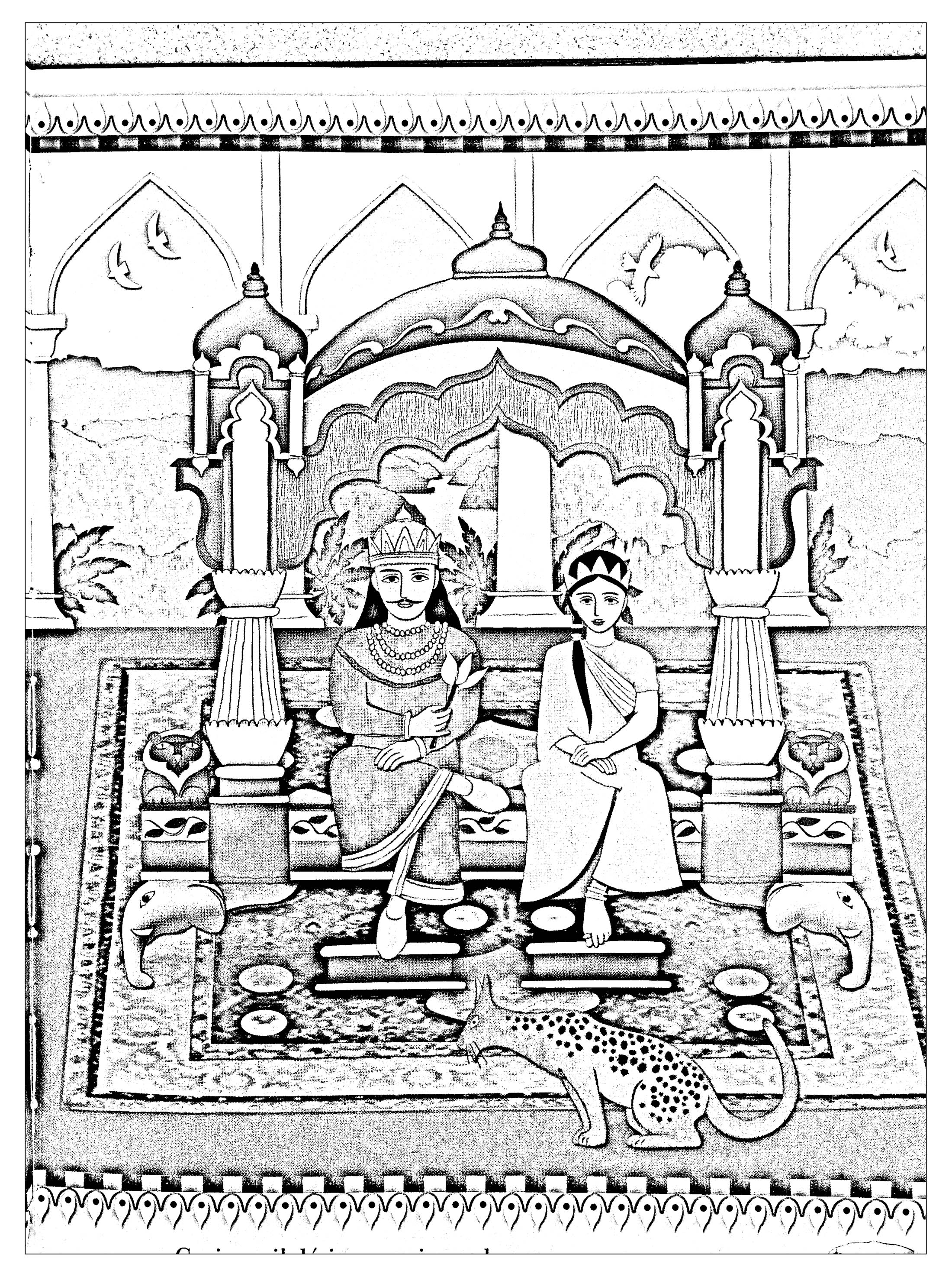 inda king queen india u0026 bollywood coloring pages for adults