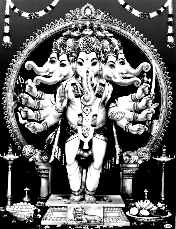 Coloring india ganesha elephant