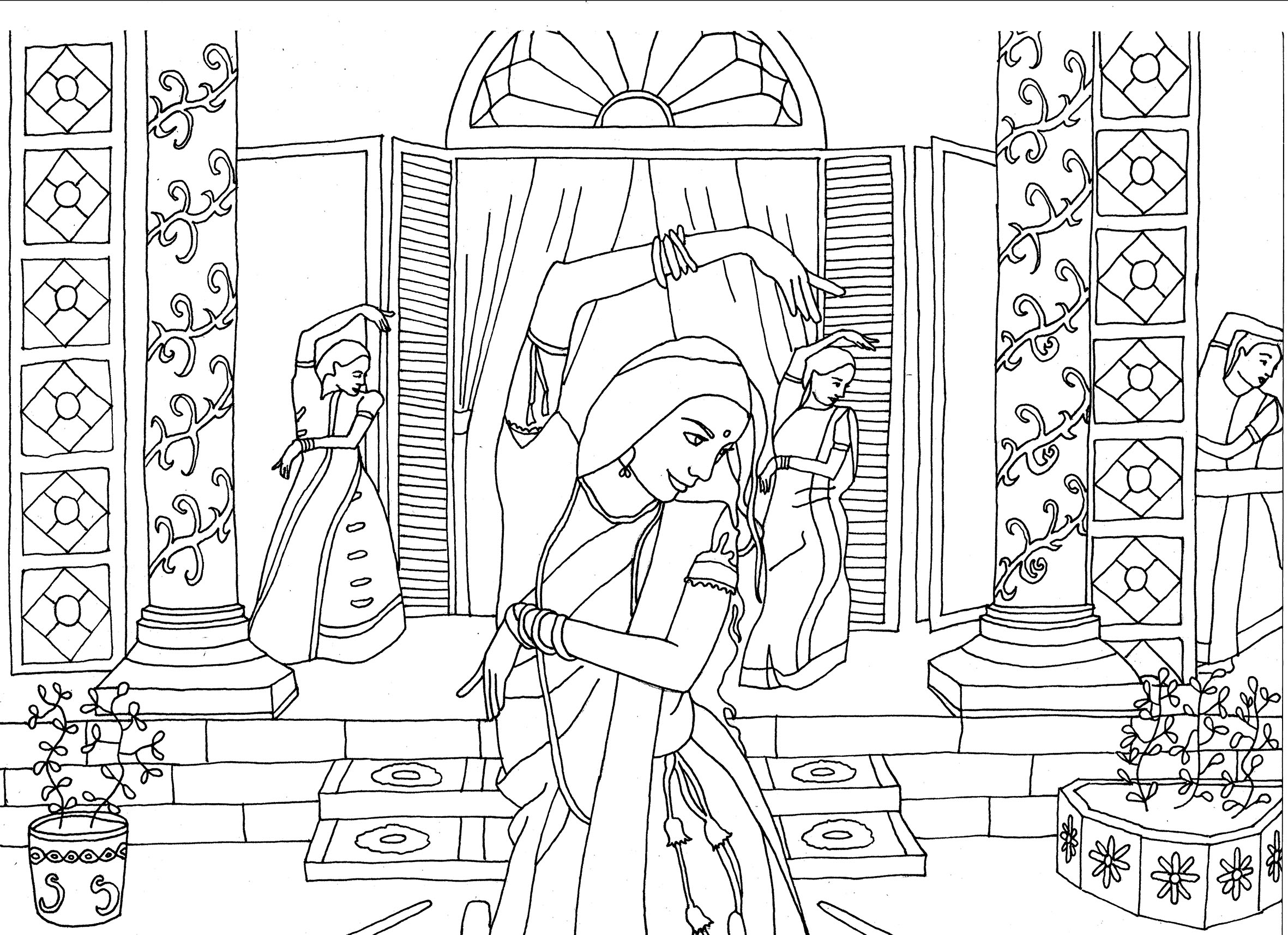 Coloring pages india