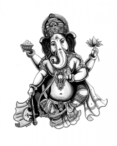 Ganesh and his elephant's head