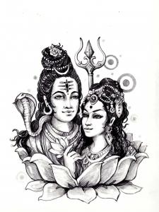 Coloring adult shiva sati india