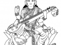 coloring-adult-india-saraswati-3