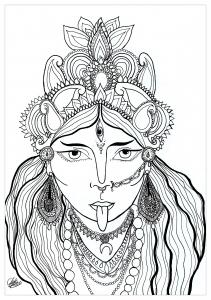 Coloring goddess Kali