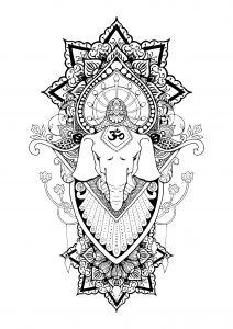 Ganesha and patterns