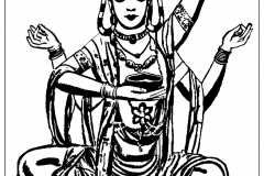 Coloring Page India Shiva Thick Lines