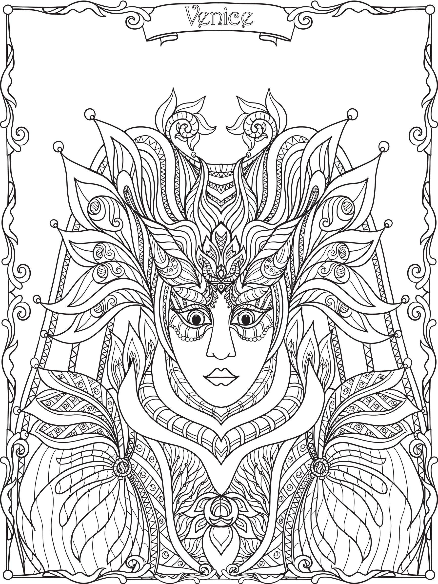 Venetian Carnival Costume and Mask