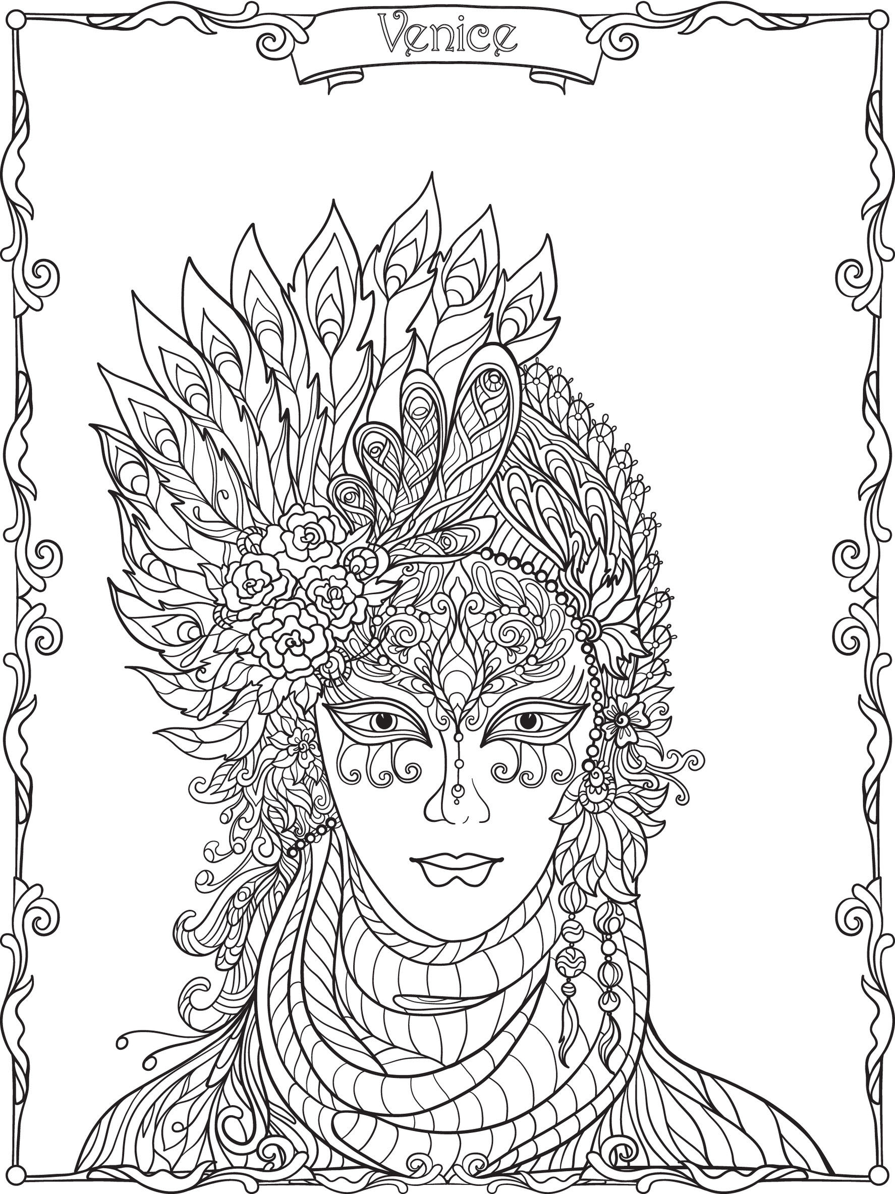 Feather Coloring Pages for Adults