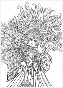 Carnival Coloring Pages For Adults