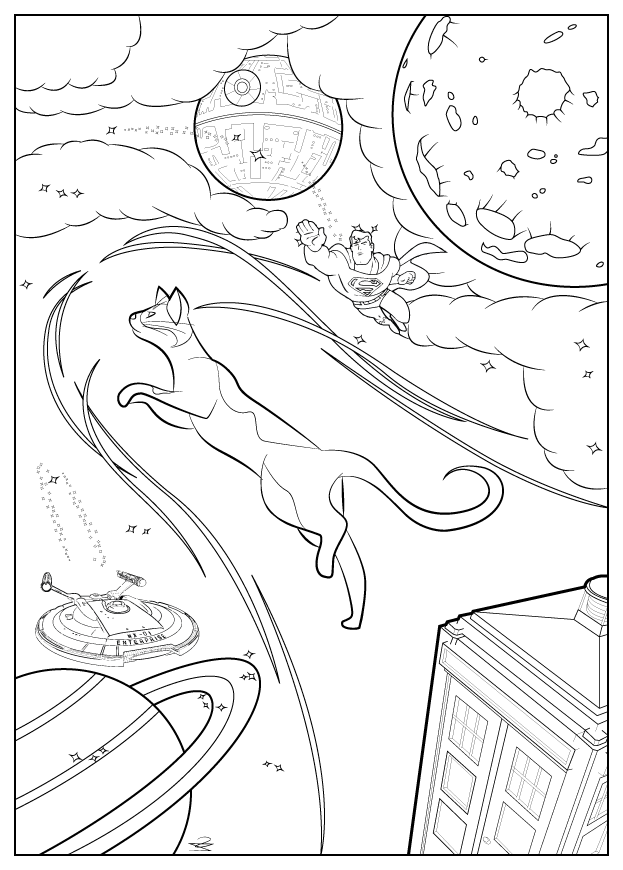 Star Trek #40 (Movies) – Printable coloring pages | 870x623