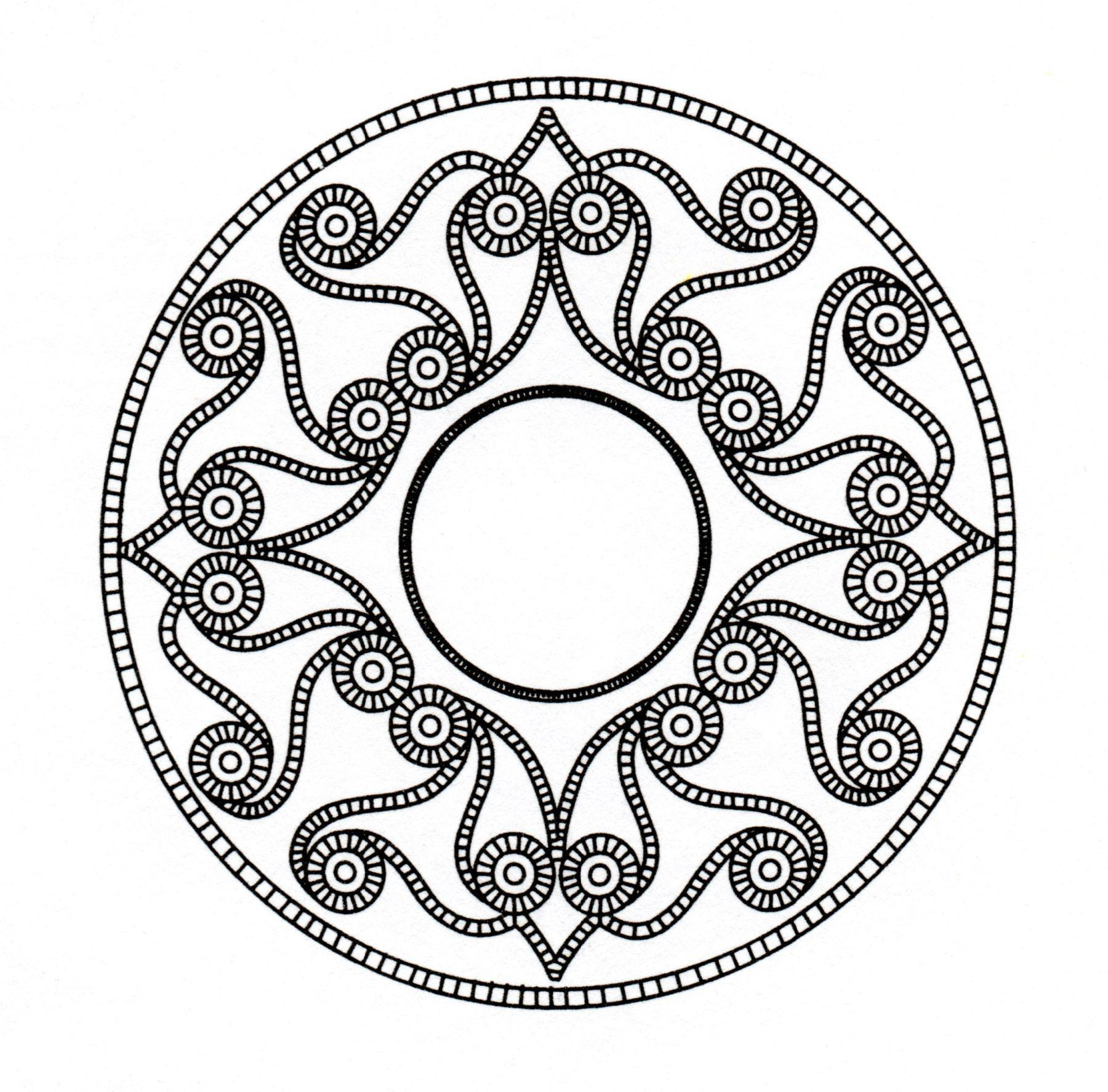 Celtic art drawing looking like a Mandala