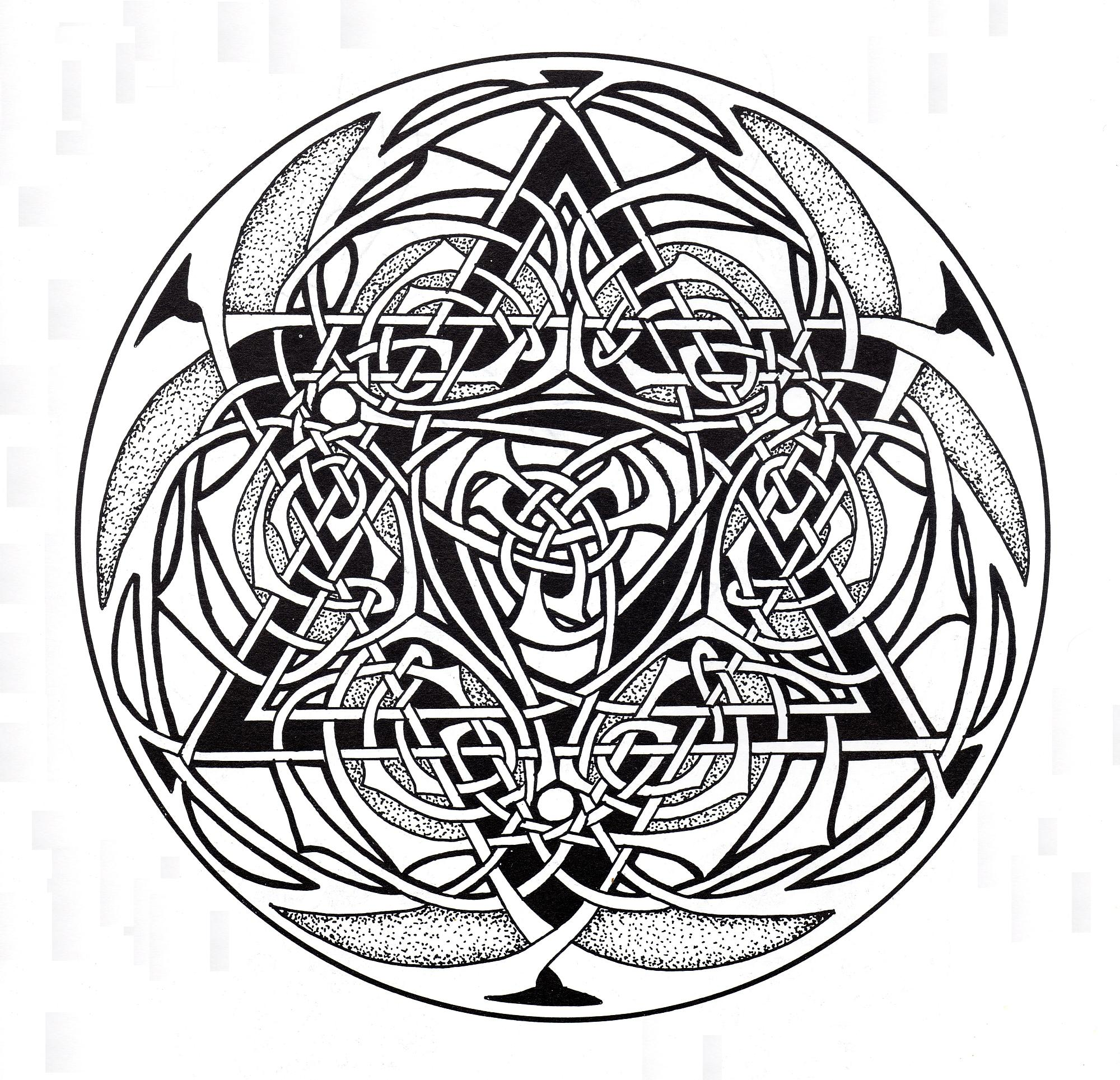 Celtic art design looking like a jewell