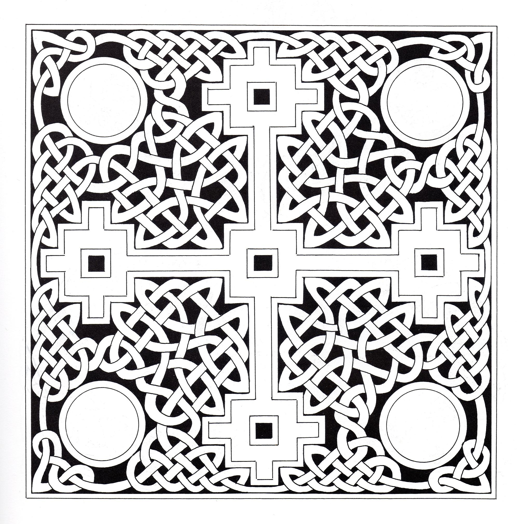Squared Celtic art pattern