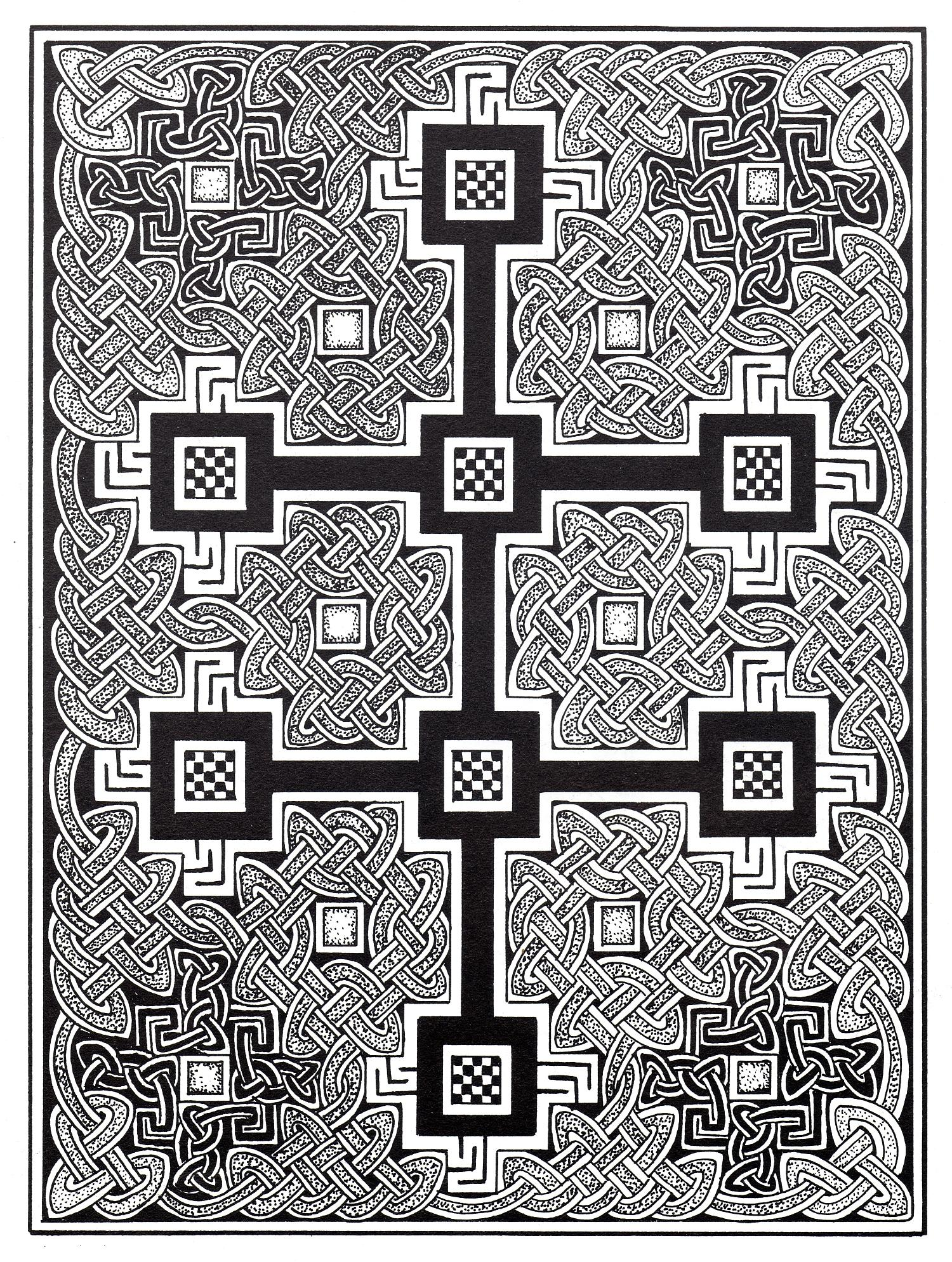 Complex Celtic art design