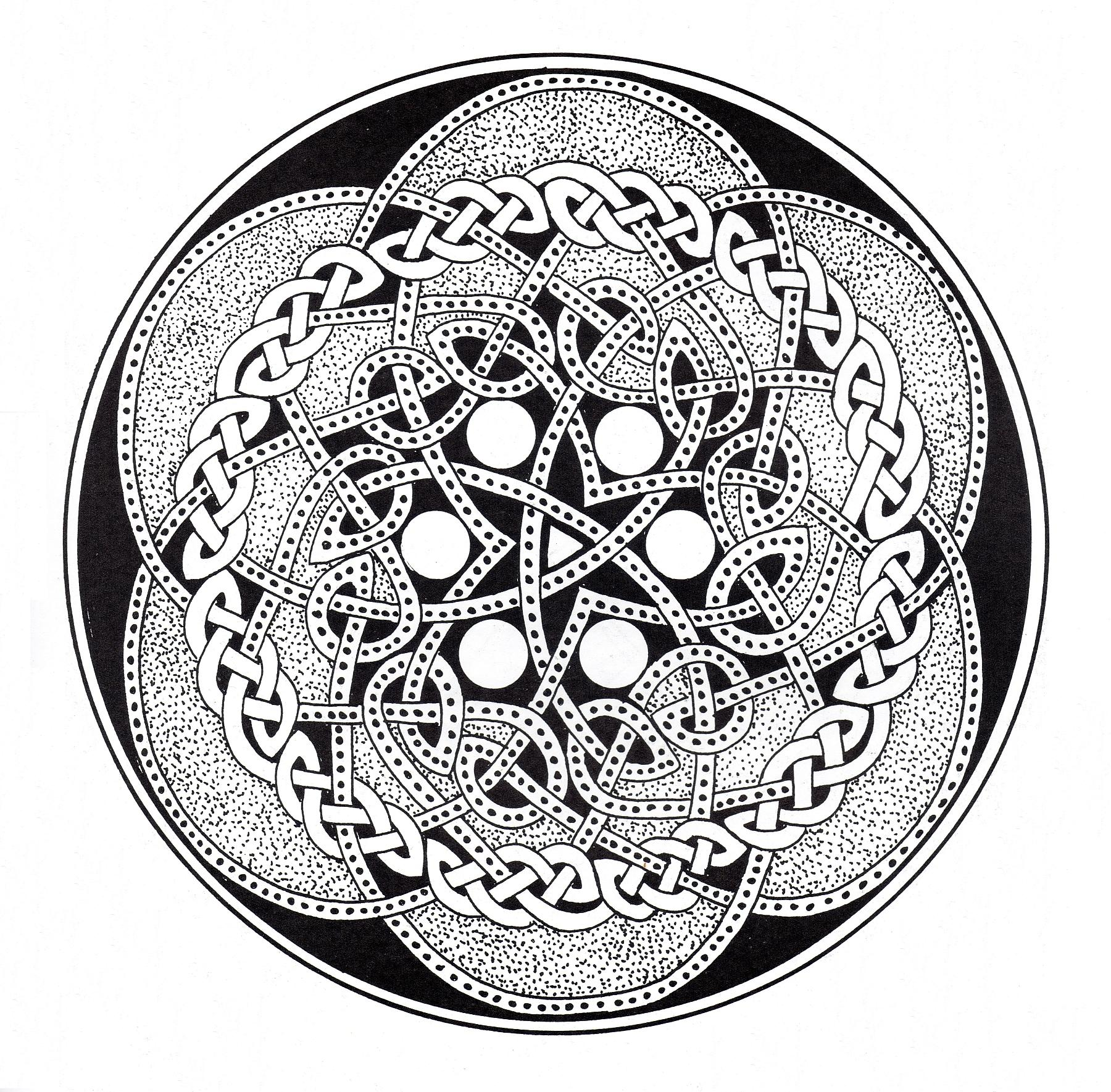 Celtic art design looking like a Mandala