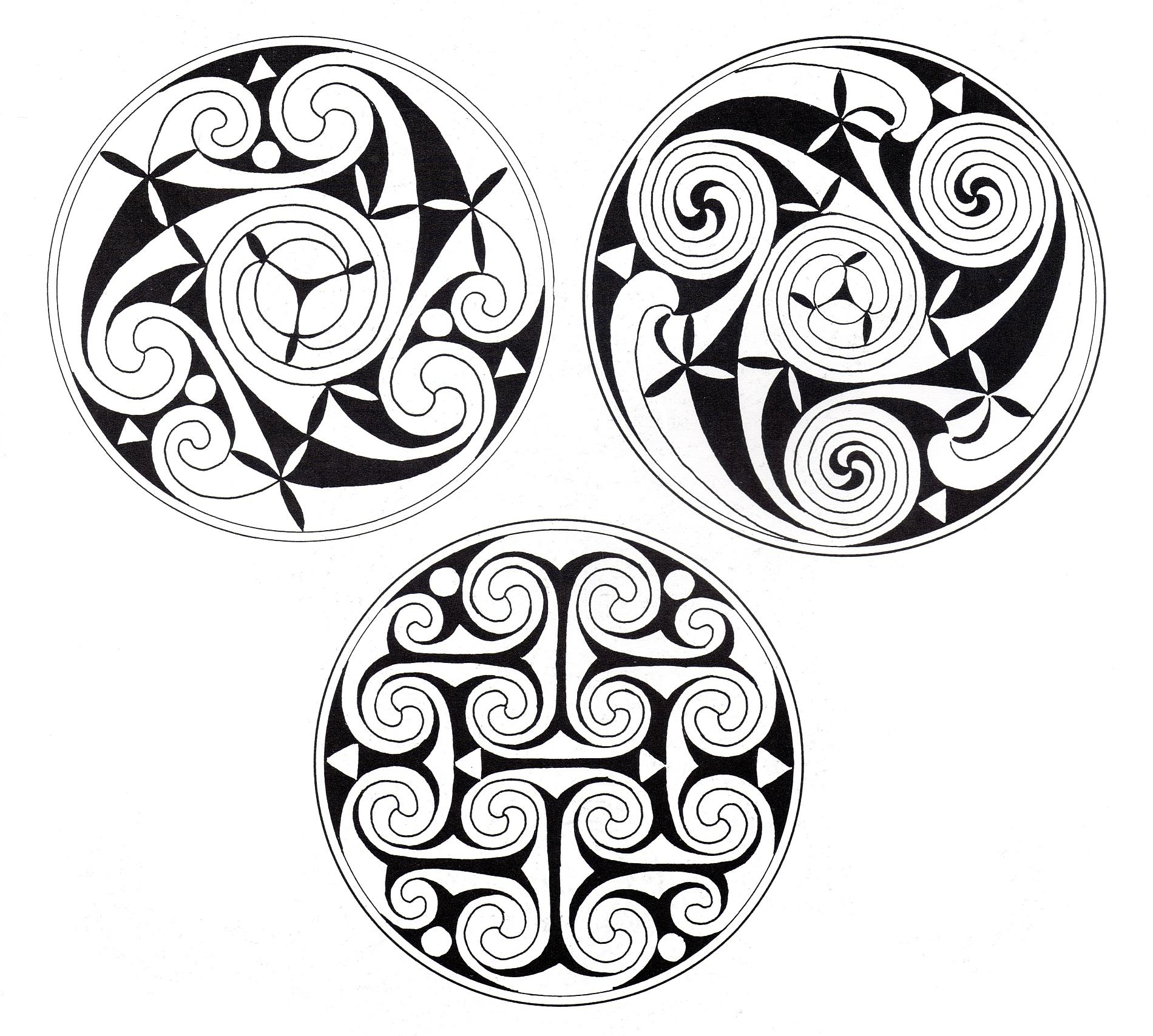 Celtic art designs : 3 mandalas