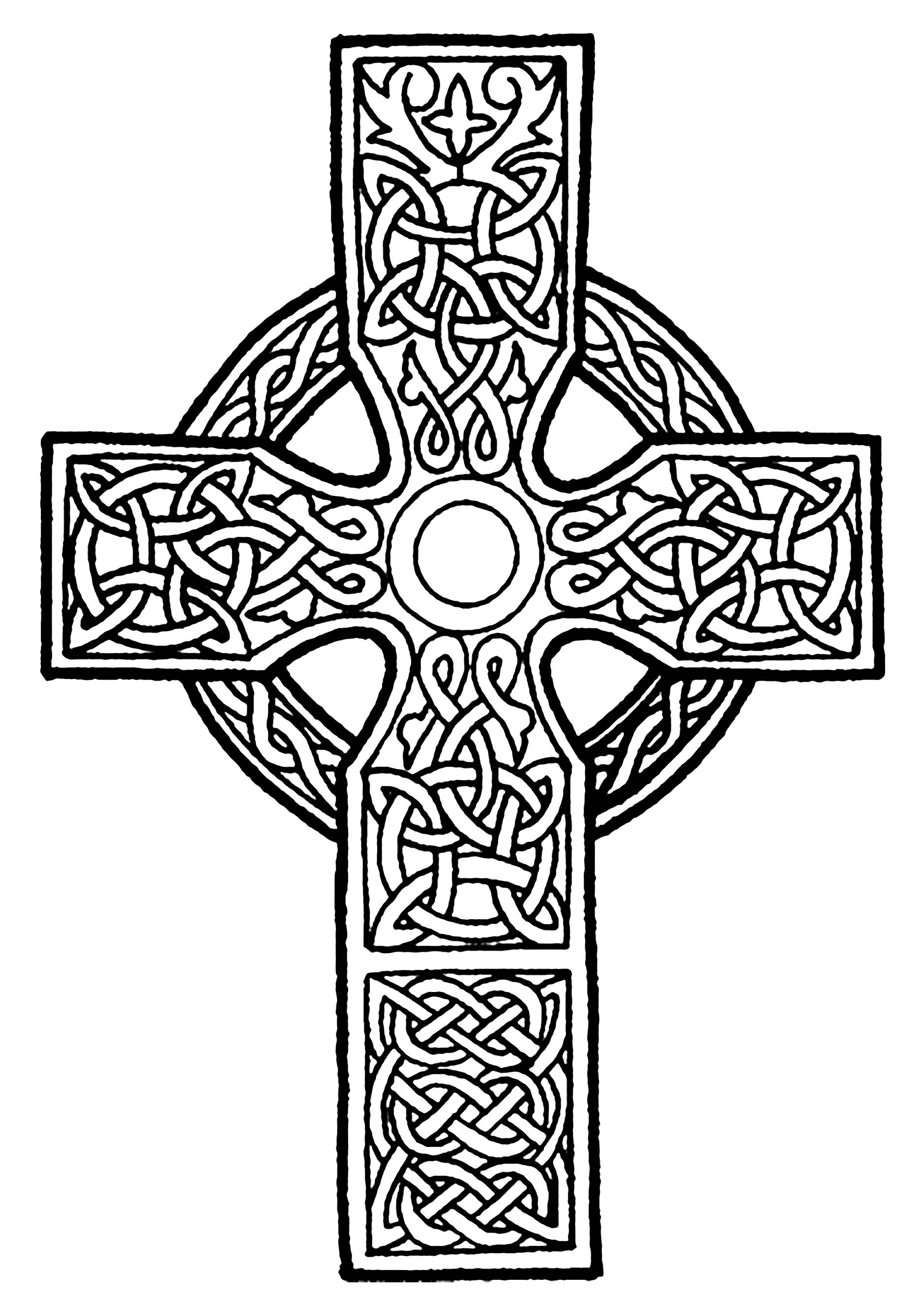 Intricate Design With Animal Coloring Celtic Art 3 Cross