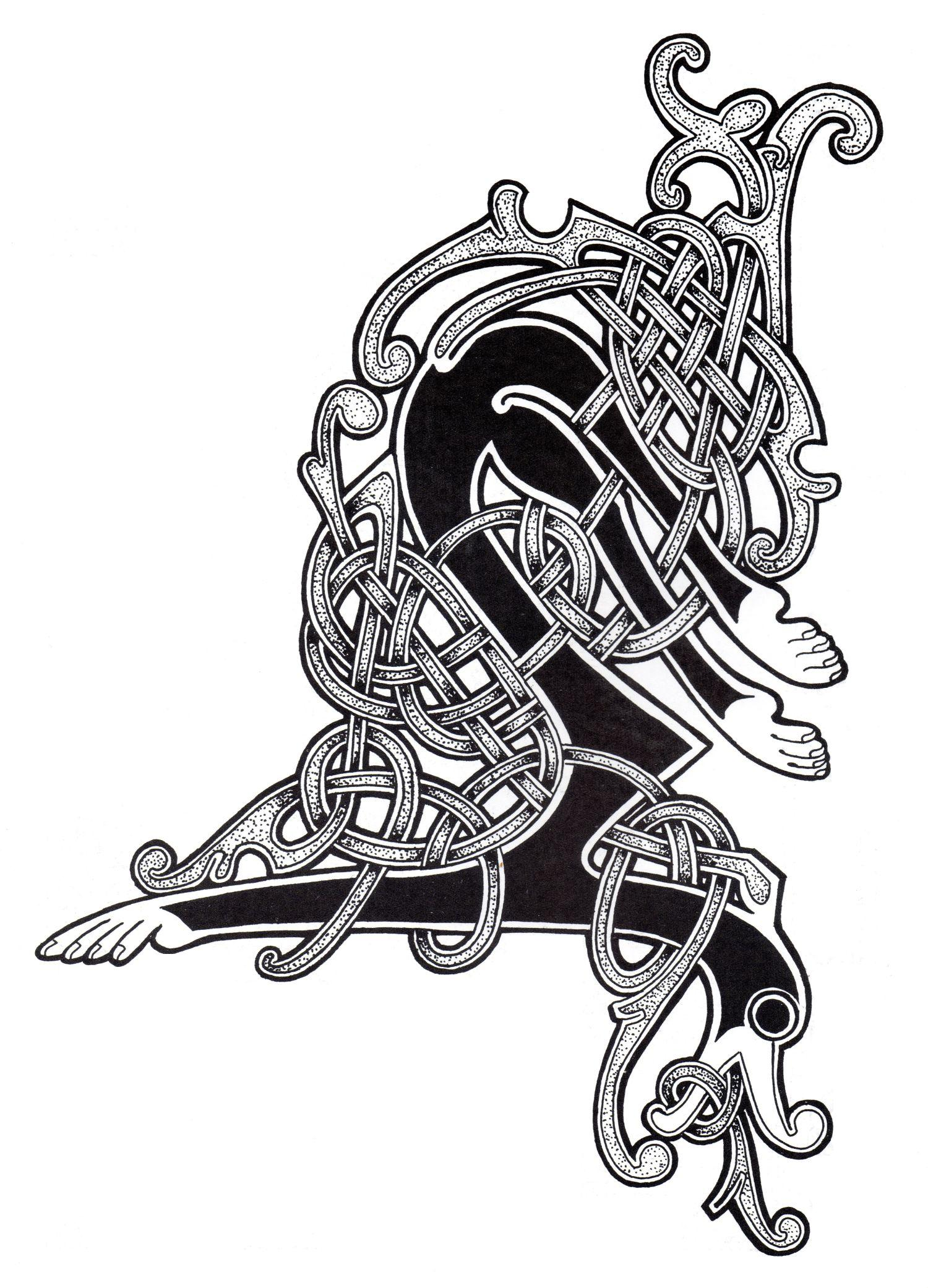 Magnificent abstract Celtic art design