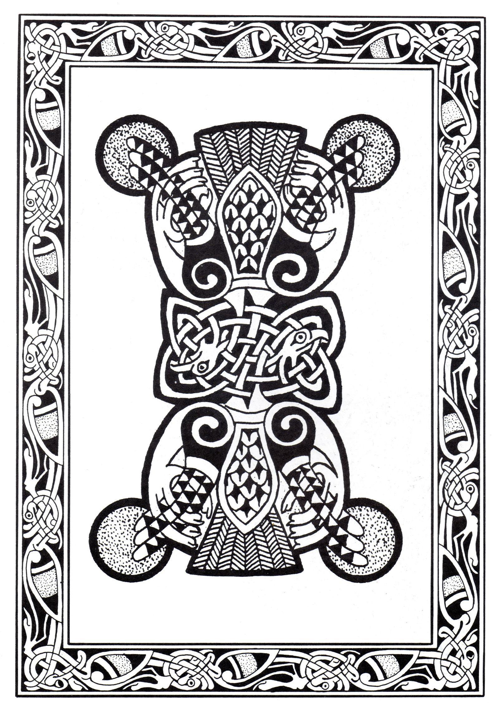 Complex abstract Celtic art design